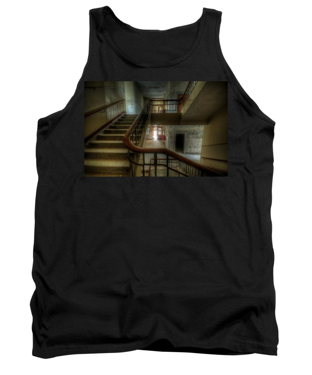 Urbex Tank Top featuring the digital art In The Middle by Nathan Wright