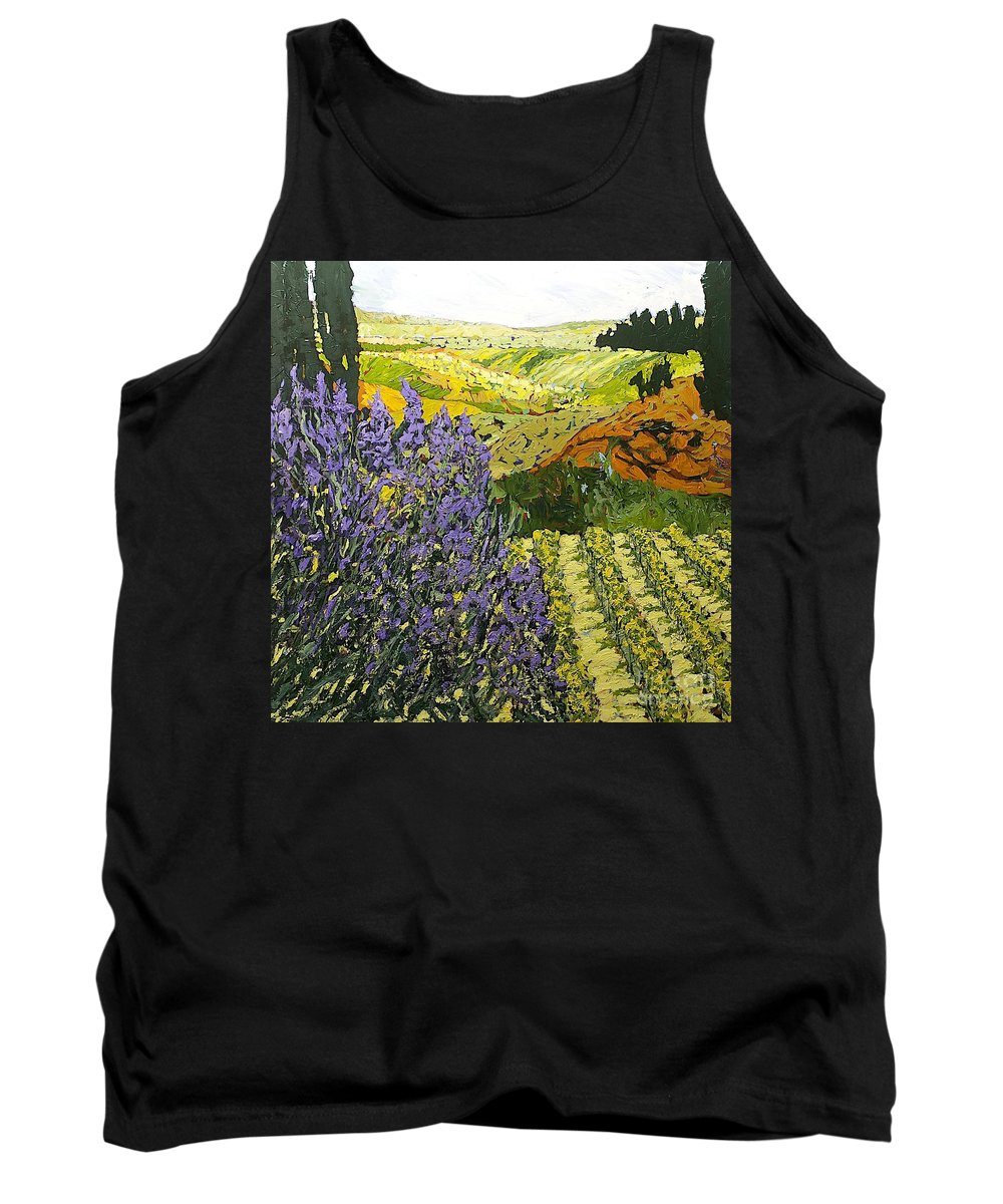 Landscape Tank Top featuring the painting It Is Magic by Allan P Friedlander