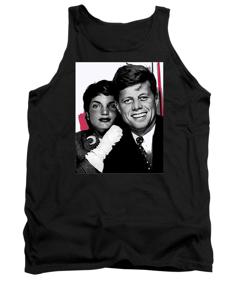 Jackie And Jack Kennedy In A Photo Booth Snap No Known Location 1953 Tank Top featuring the photograph Jackie And Jack Kennedy In A Photo Booth Snap No Known Location 1953-2013 by David Lee Guss