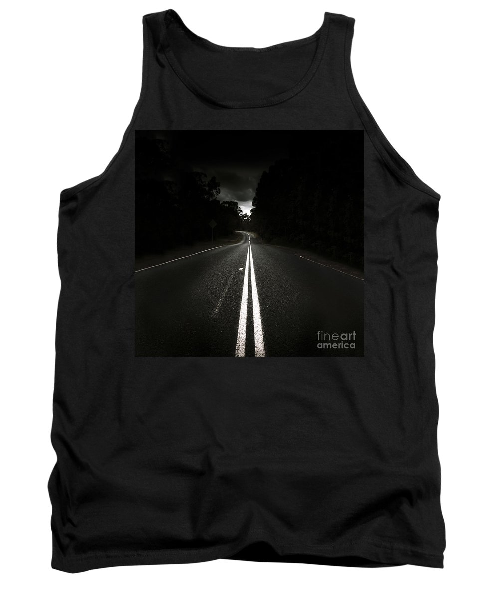 Night Tank Top featuring the photograph Journey Of Distance by Jorgo Photography - Wall Art Gallery