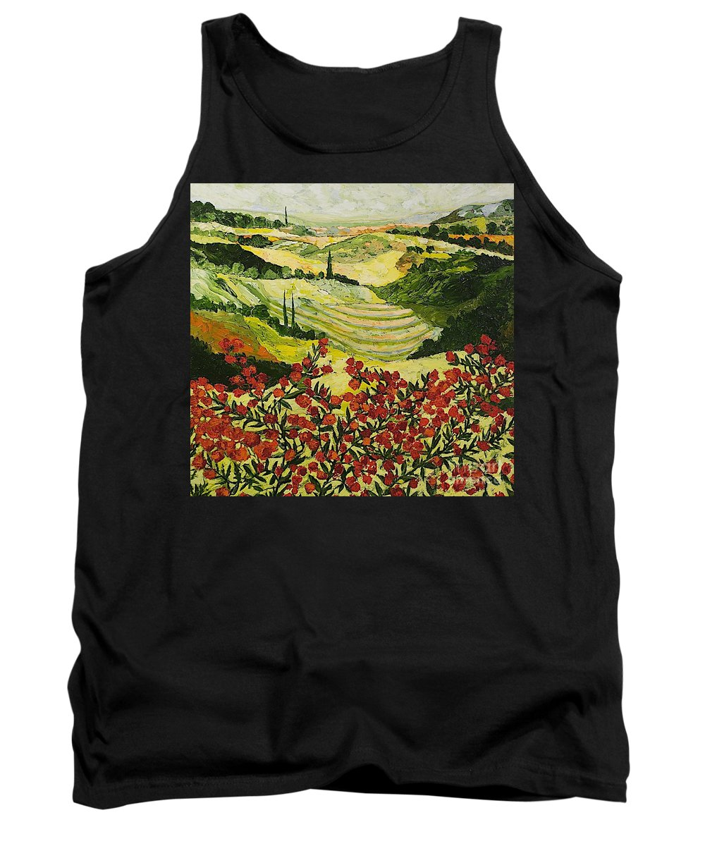 Landscape Tank Top featuring the painting Look And Behold by Allan P Friedlander