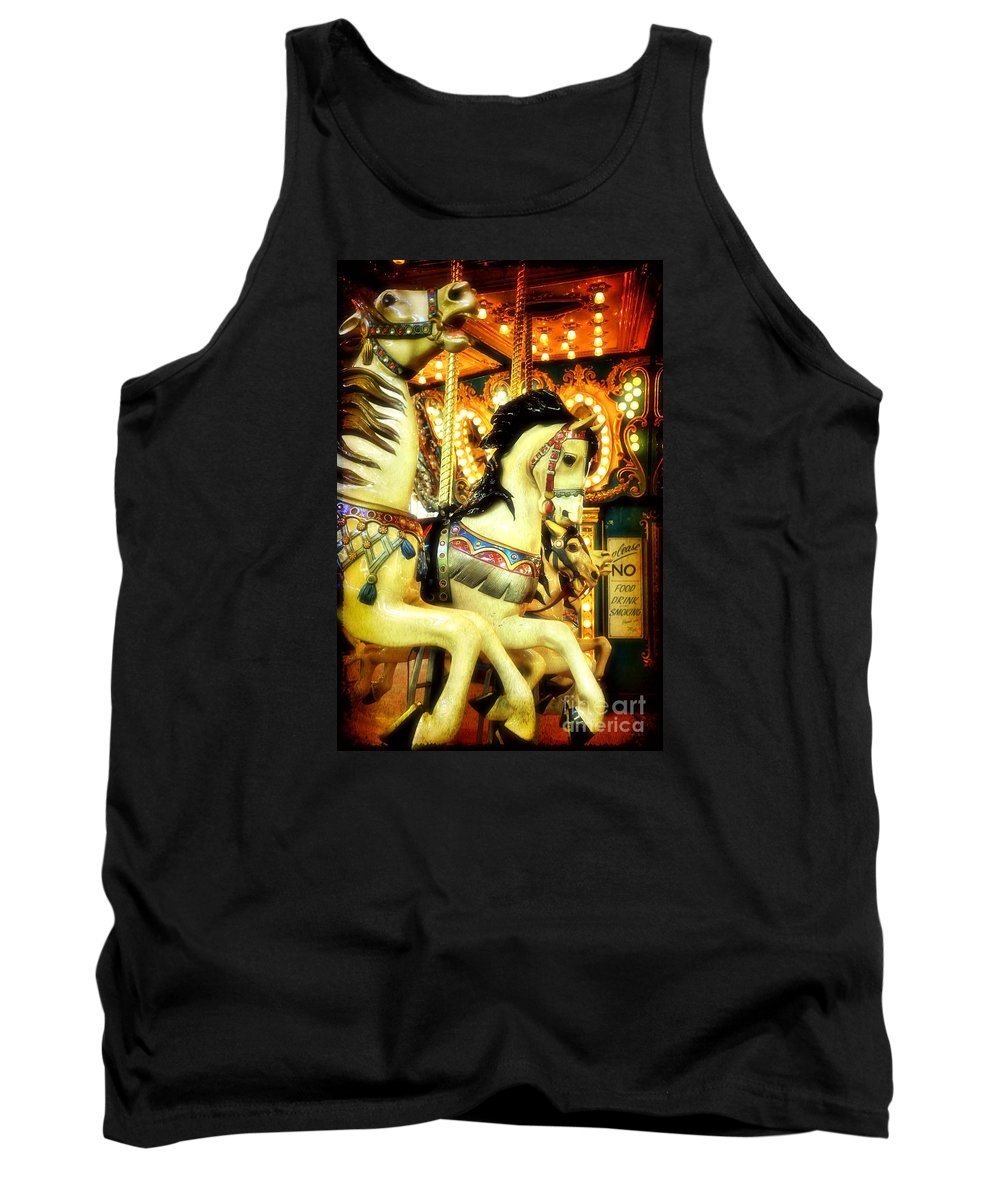 Carousel Tank Top featuring the photograph Looking For That Golden Ring by Debra Fedchin