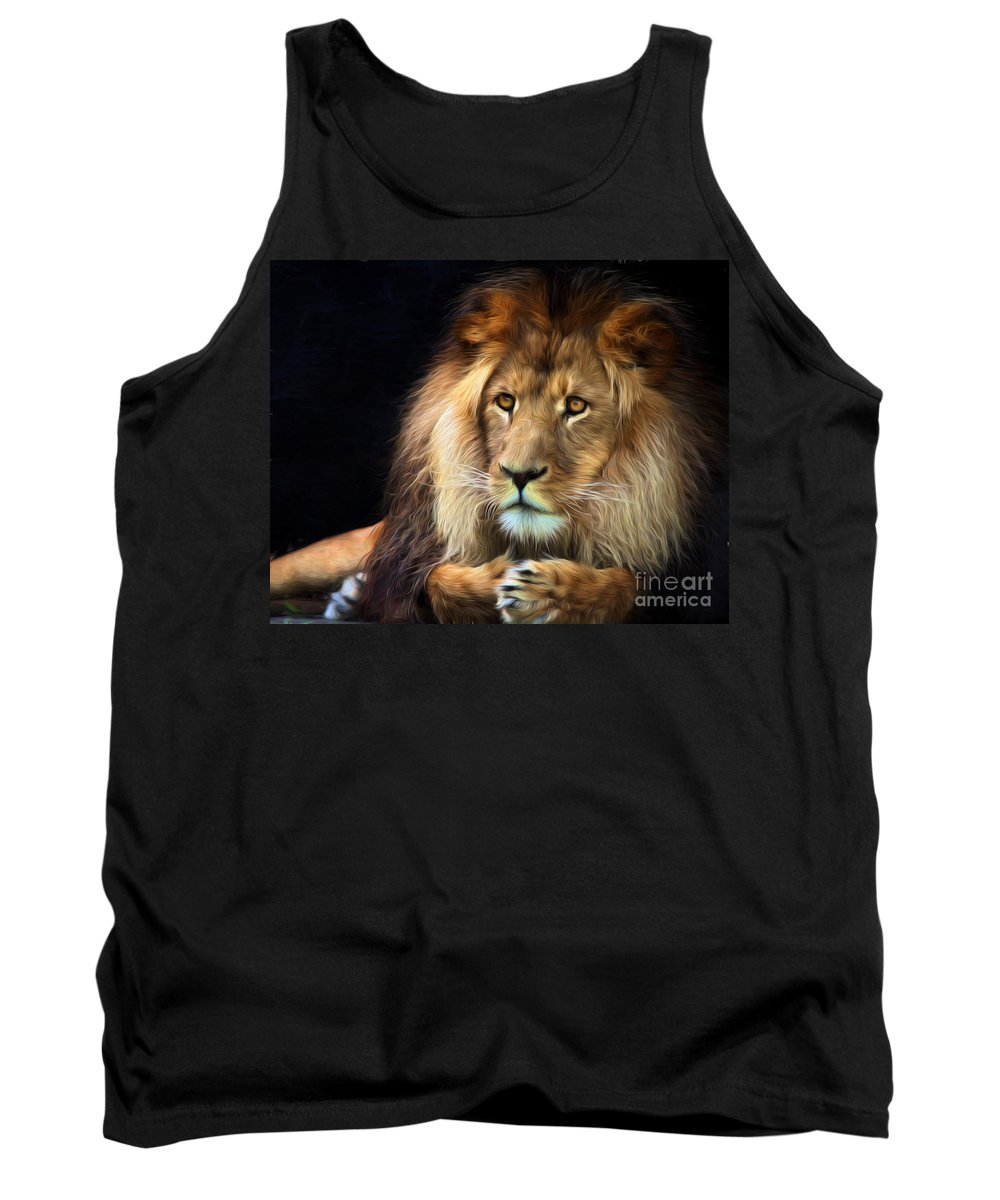 Lion Tank Top featuring the photograph Magnificent Lion by Sheila Smart Fine Art Photography