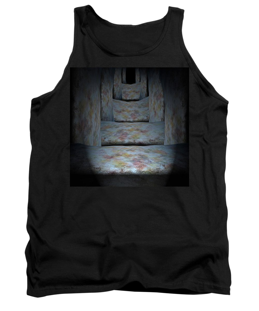 Megaliths Tank Top featuring the painting Megaliths by Christopher Gaston