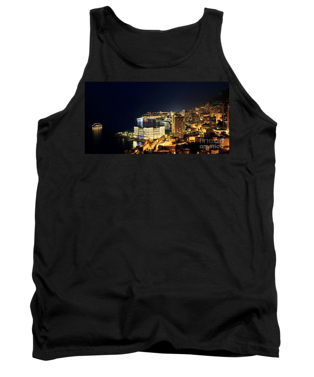 City Tank Top featuring the photograph Monte Carlo Cityscape At Night by Matteo Colombo