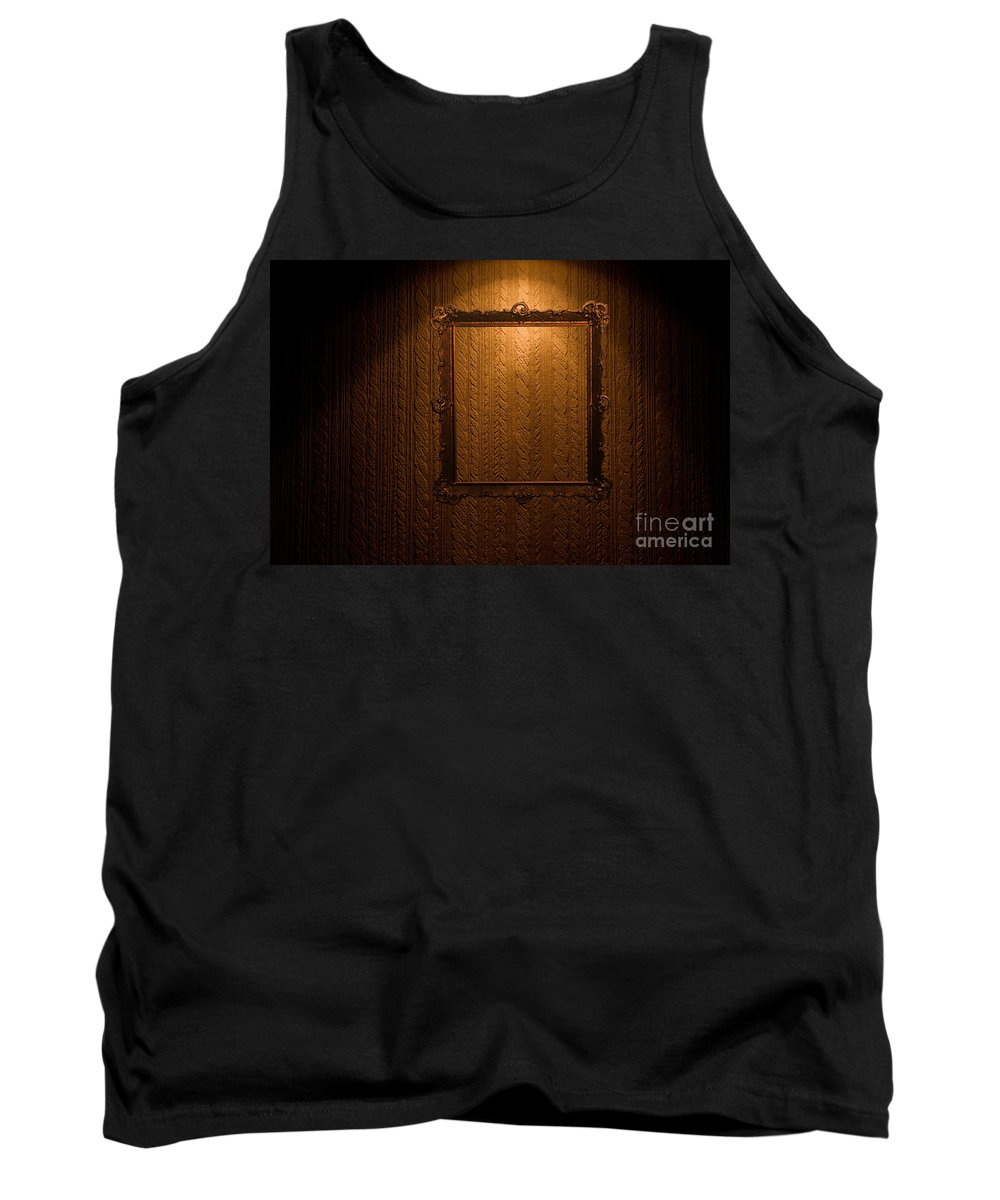 Frame Tank Top featuring the photograph Old Frame On Retro Wall by Michal Bednarek