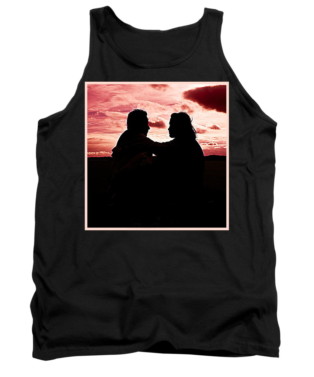 Engagement Tank Top featuring the photograph Pink Love by Alex Art and Photo