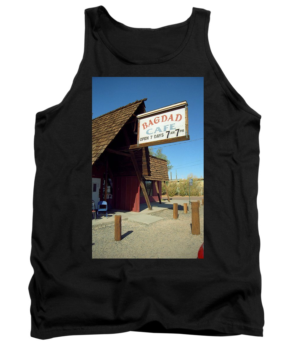 66 Tank Top featuring the photograph Route 66 - Bagdad Cafe by Frank Romeo
