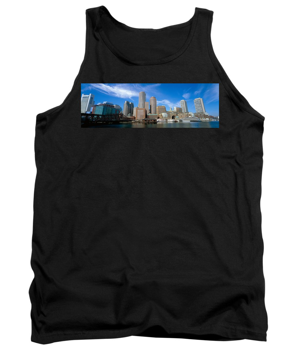 Photography Tank Top featuring the photograph Skyscrapers At The Waterfront, Boston by Panoramic Images