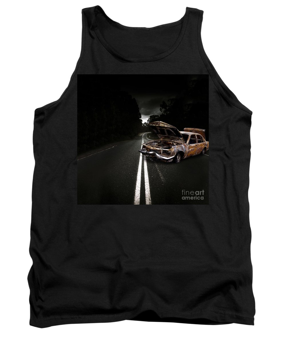 Accident Tank Top featuring the photograph Smashed Up Car Wreck by Jorgo Photography - Wall Art Gallery