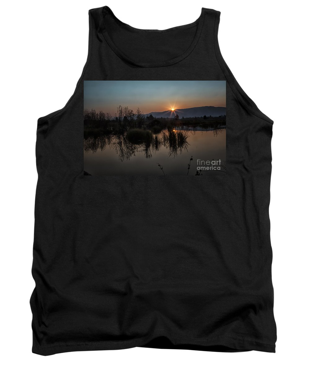 Beaver Pond Tank Top featuring the photograph Sunrise Over The Beaver Pond by Ronald Lutz