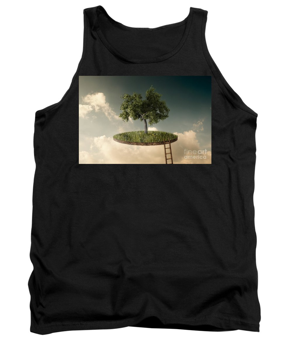 Suspended Land Tank Top featuring the photograph Suspended Land by Giordano Aita