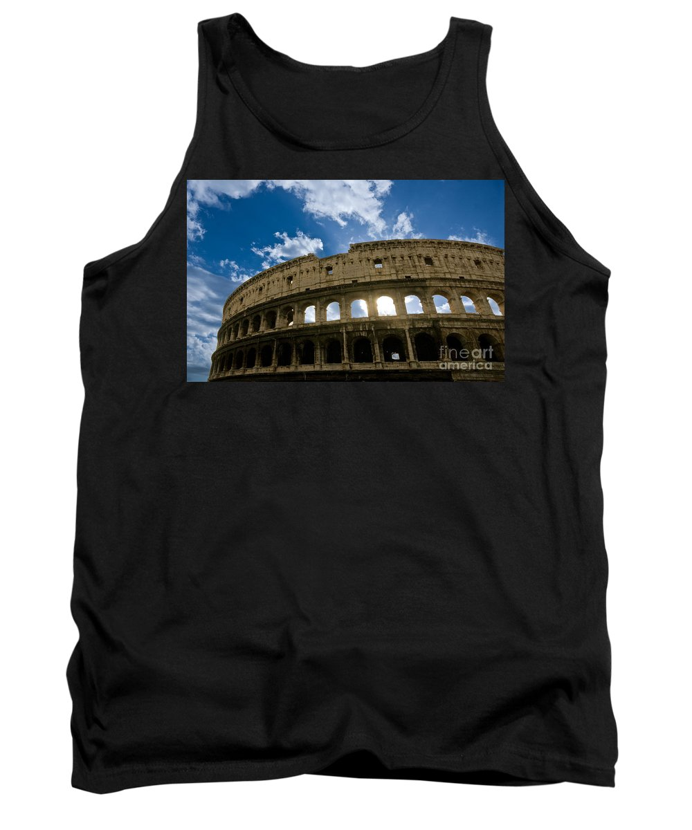 Column Tank Top featuring the photograph The Majestic Coliseum - Rome by Luciano Mortula