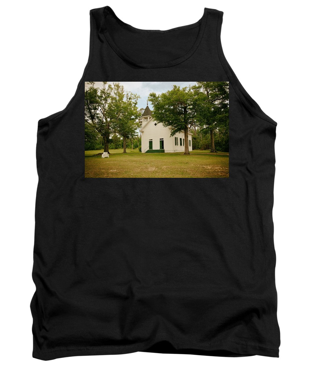 Buena Vista Tank Top featuring the photograph The Old Country Church by Mountain Dreams