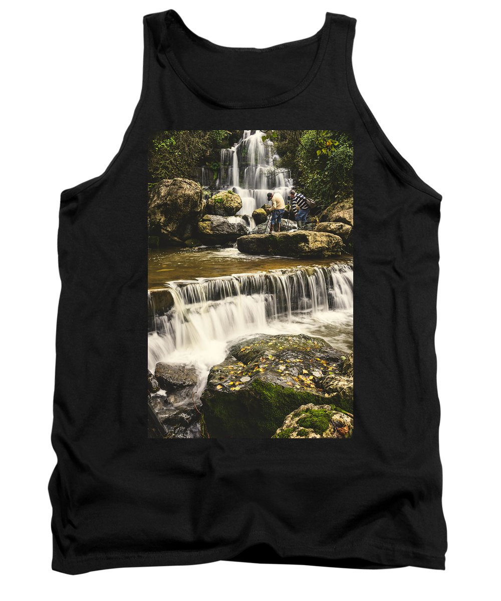Waterfall Tank Top featuring the photograph The Photographer's Quest V by Marco Oliveira