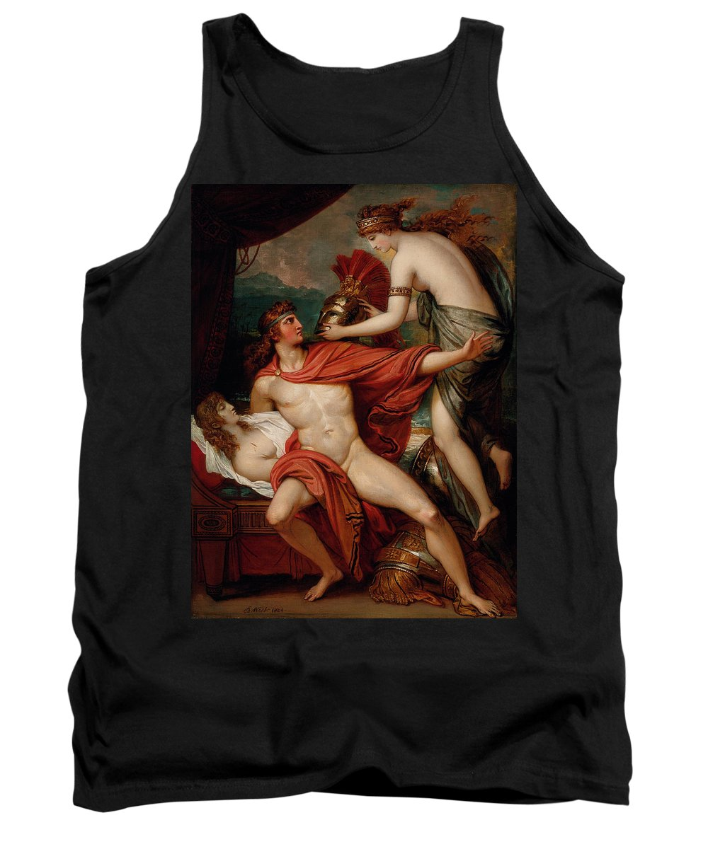 Benjamin West Tank Top featuring the painting Thetis Bringing The Armor To Achilles by Benjamin West