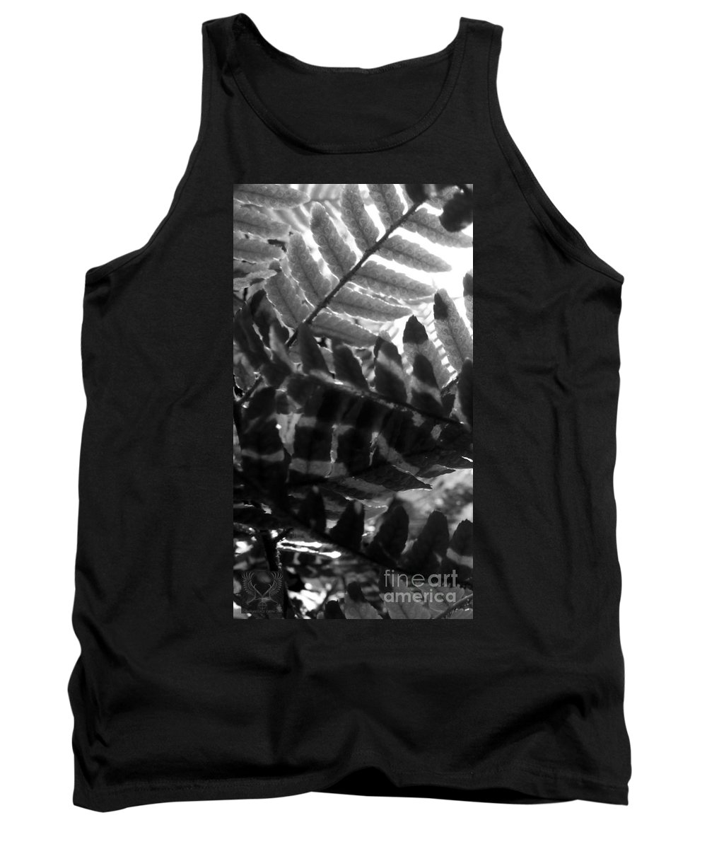 Black And White Tank Top featuring the photograph 1 V Na Fern Zz Bw by Dale Crum