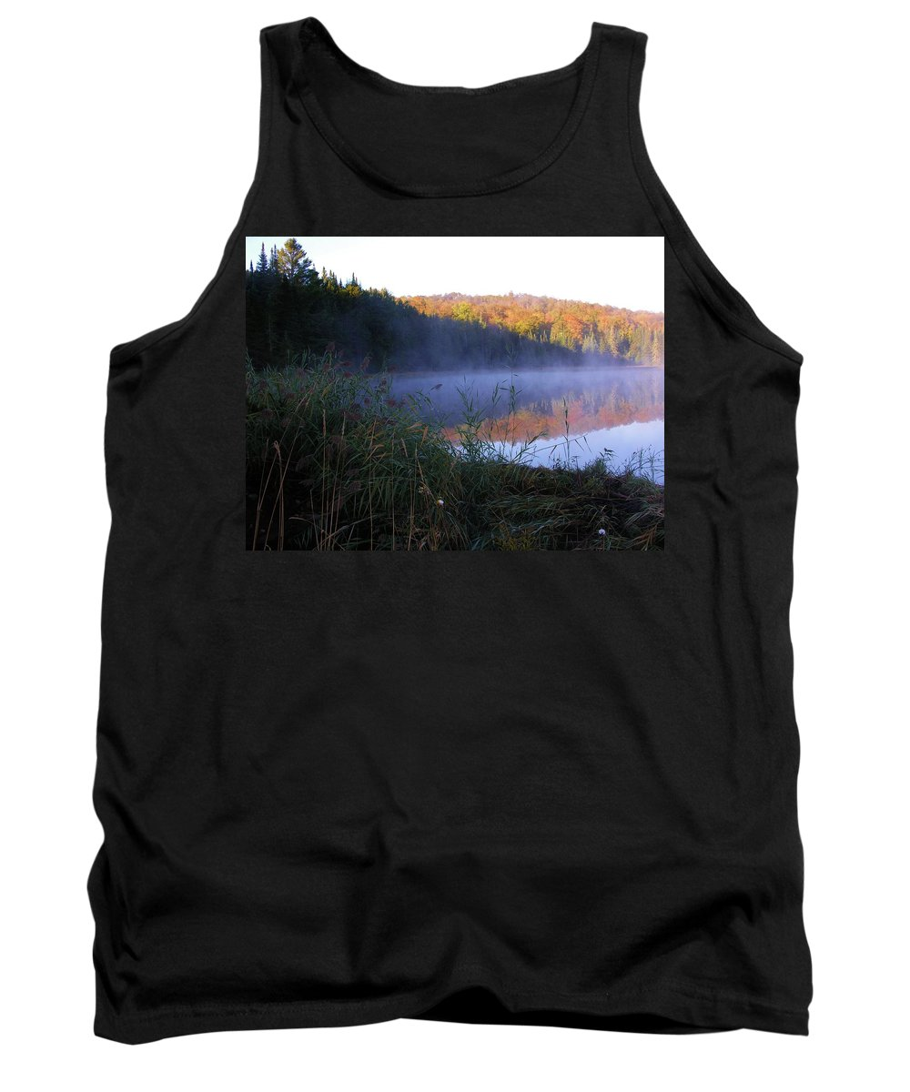 Pond Tank Top featuring the photograph Vermont Pond by Sherman Perry