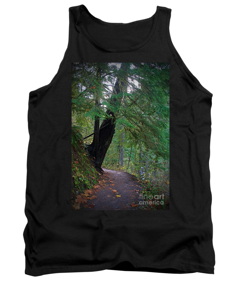 Forest Tank Top featuring the photograph Wahclella Falls Trail by Tina Wentworth