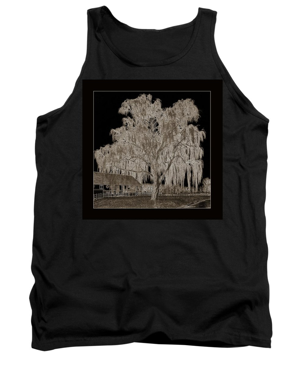 Willow Tree Tank Top featuring the photograph Willow Ranch by John Stephens