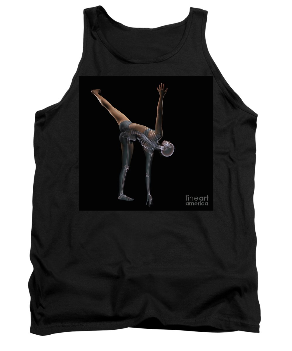 Transparency Tank Top featuring the photograph Yoga Half Moon Pose by Science Picture Co