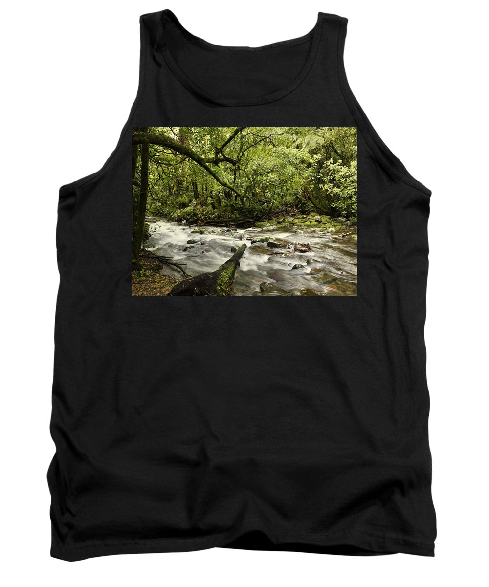 Water Tank Top featuring the photograph Jungle Stream by Les Cunliffe