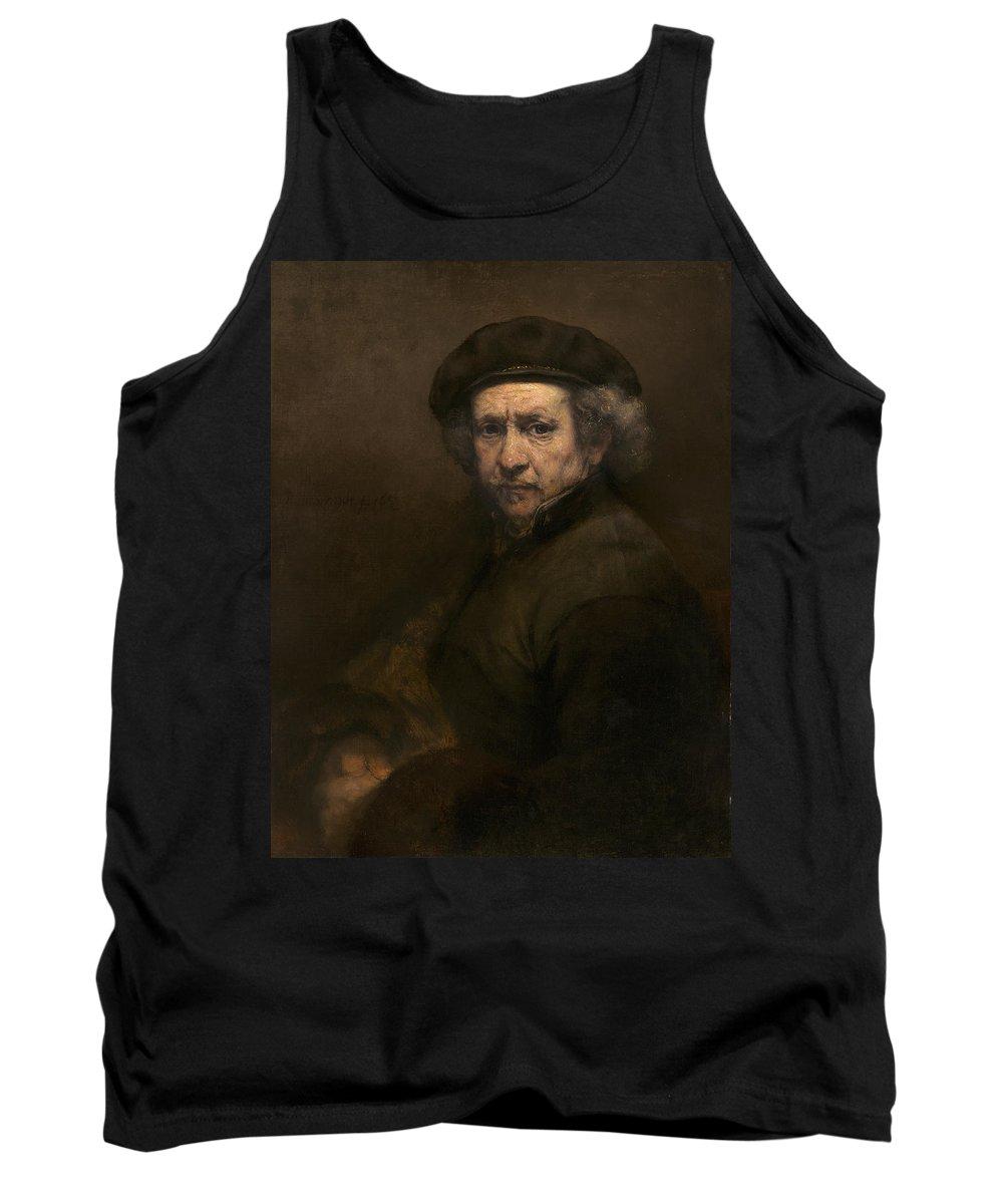 Rembrandt Van Rijn Tank Top featuring the painting Self-portrait by Rembrandt van Rijn