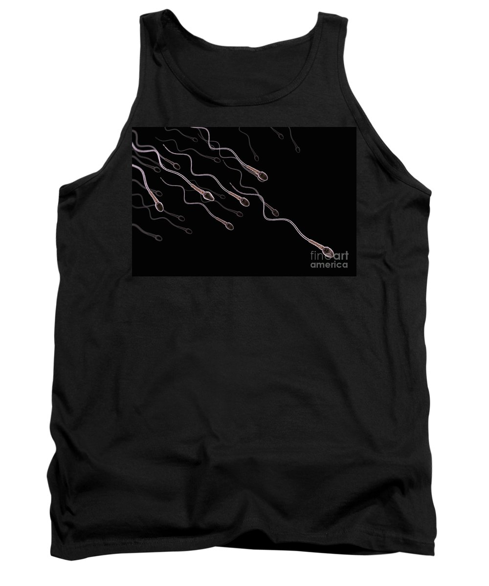 Close-up Tank Top featuring the photograph Human Sperm by Science Picture Co