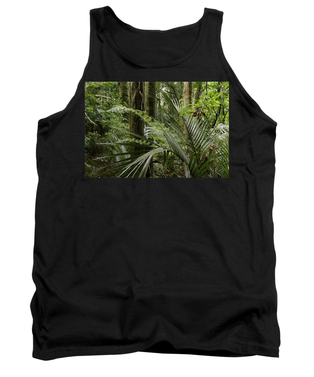 New Zealand Tank Top featuring the photograph Jungle Leaves by Les Cunliffe
