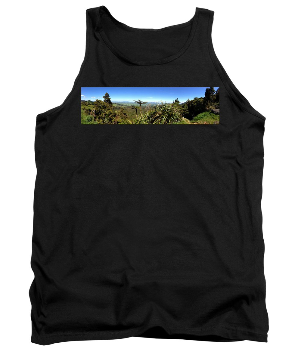 Bush Tank Top featuring the photograph New Zealand by Les Cunliffe