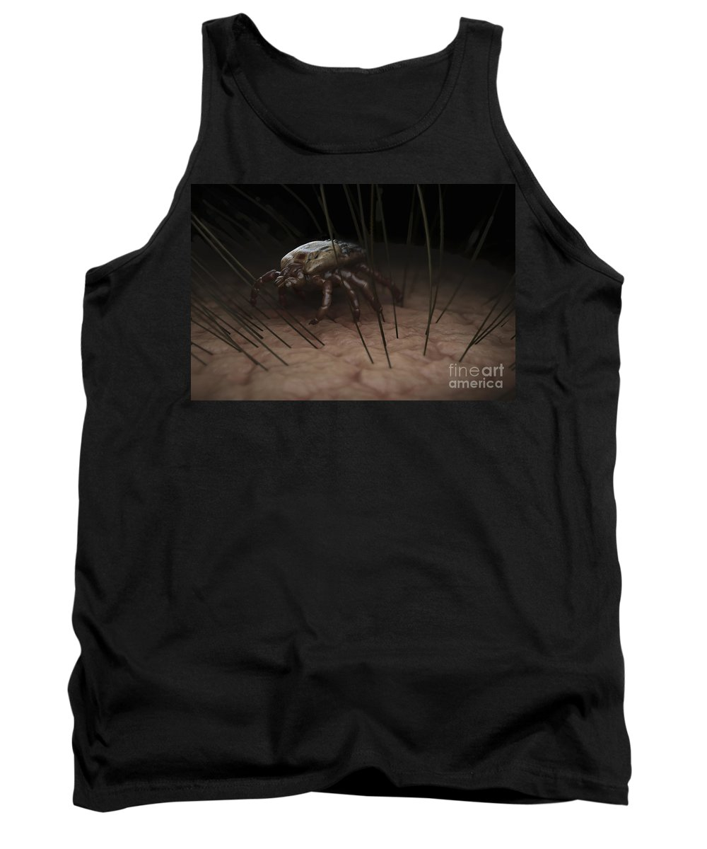 Haematophagy Tank Top featuring the photograph Tick Ixodes by Science Picture Co