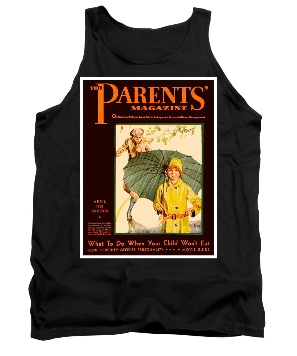 1910 Tank Top featuring the digital art 1931 - Parents Magazine - April - Color by John Madison