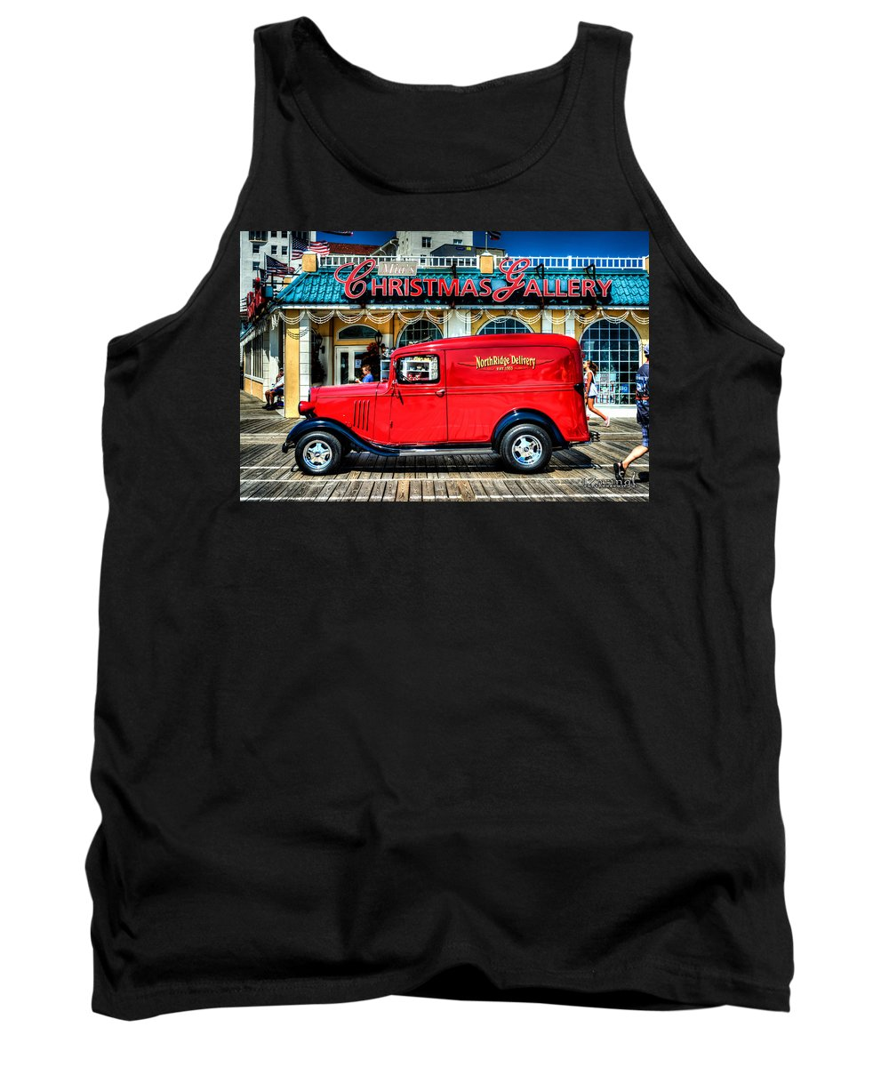 J. Zaring Tank Top featuring the photograph 1933 Chevy Delivery Truck Red by Joshua Zaring