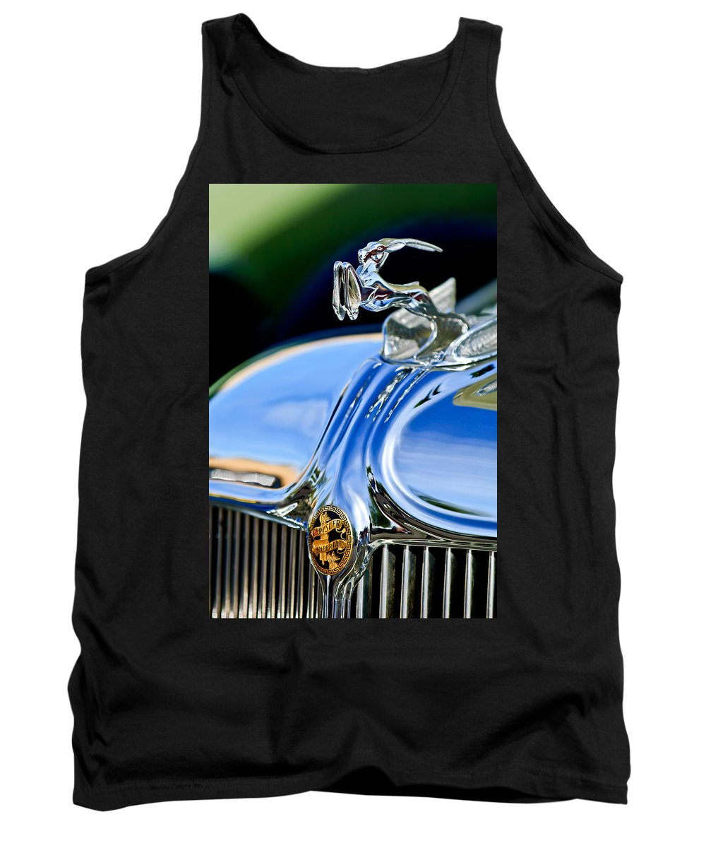 1933 Chrysler Imperial Tank Top featuring the photograph 1933 Chrysler Imperial Hood Ornament 3 by Jill Reger