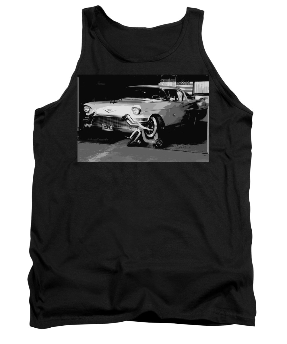 57 Tank Top featuring the photograph 1957 Cadillac by Kip Krause