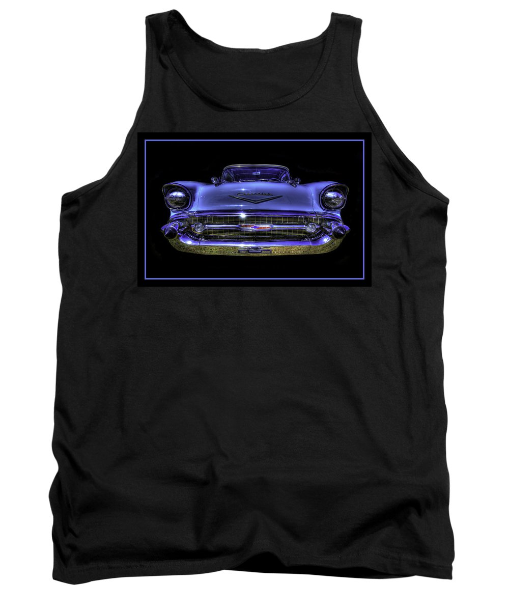 1957 Tank Top featuring the photograph 1957 Chevy by Jay Droggitis