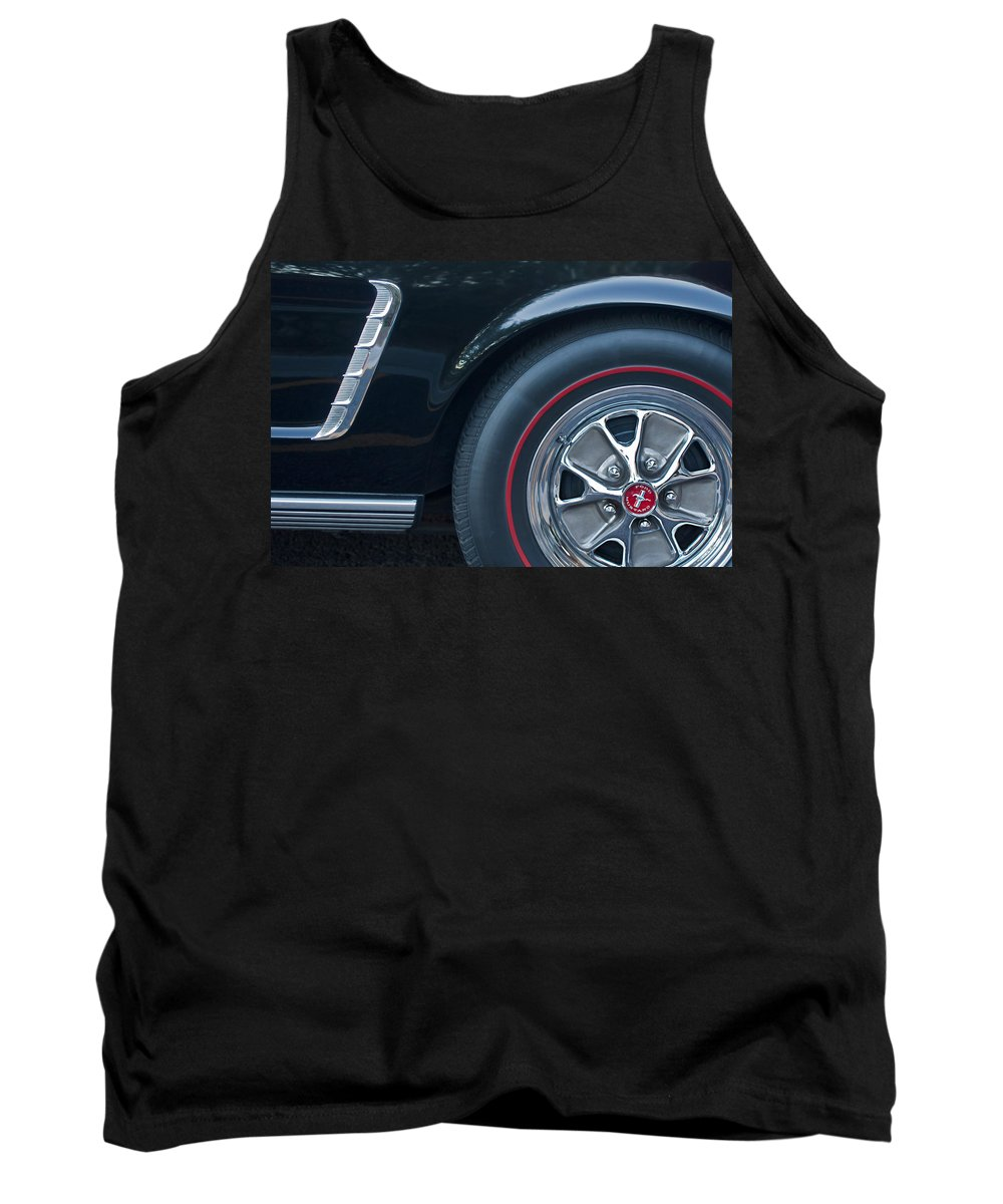 1965 Shelby Prototype Ford Mustang Wheel Tank Top featuring the photograph 1965 Shelby Prototype Ford Mustang Wheel 3 by Jill Reger