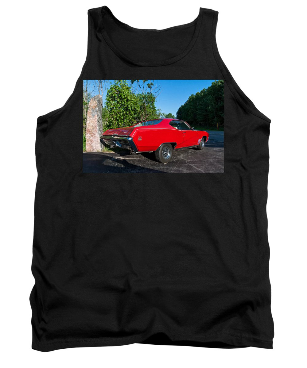 Automotive Tank Top featuring the photograph 1969 Buick Gs by Steve Harrington