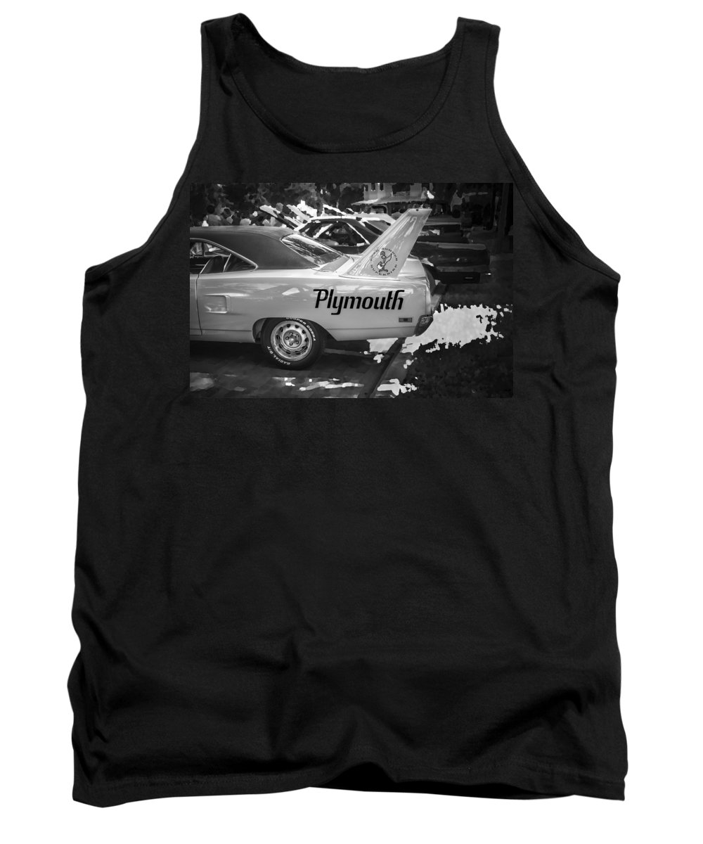 1970 Plymouth Tank Top featuring the photograph 1970 Plymouth Road Runner Hemi Super Bird Bw by Rich Franco