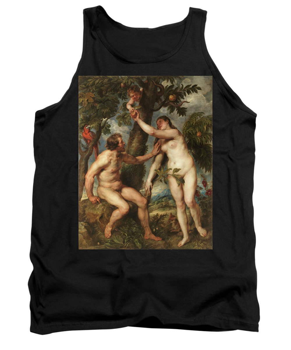 Peter Paul Rubens Tank Top featuring the painting Adam And Eve by Peter Paul Rubens