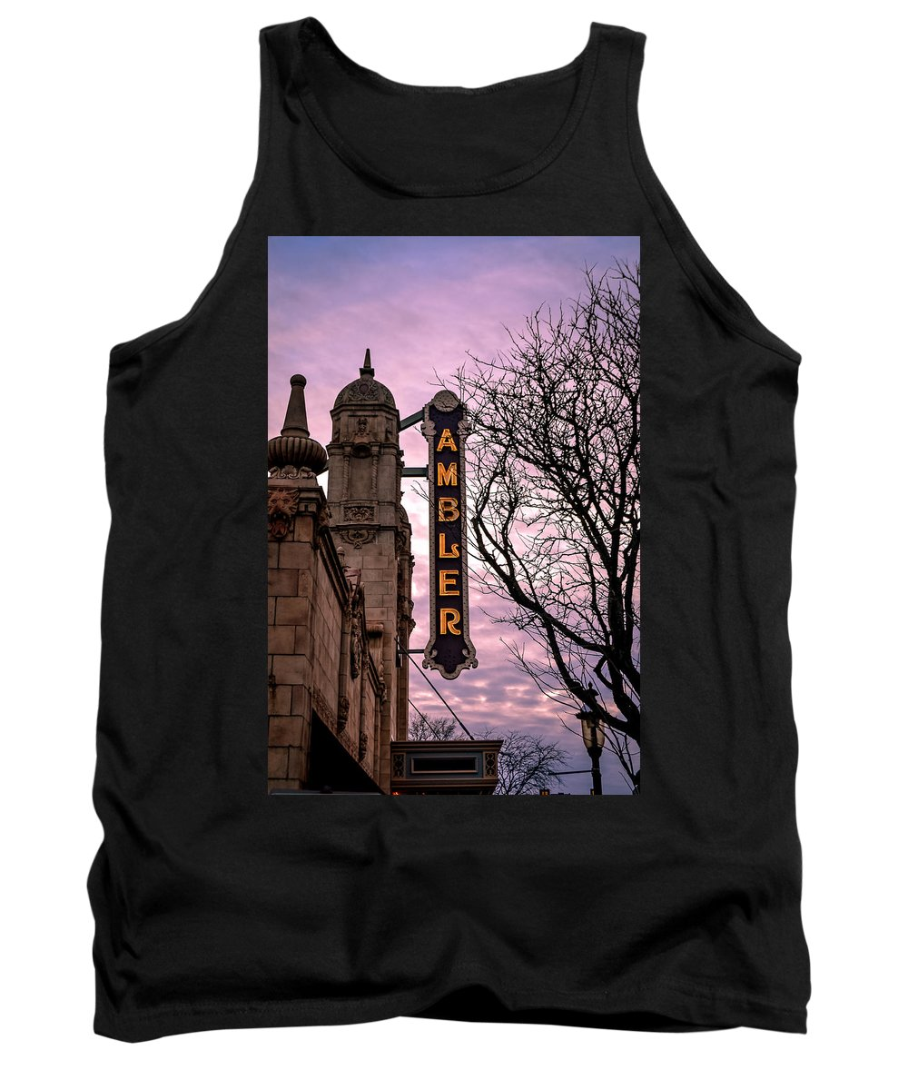 Ambler Theater Tank Top featuring the photograph Ambler Theater by Michael Brooks