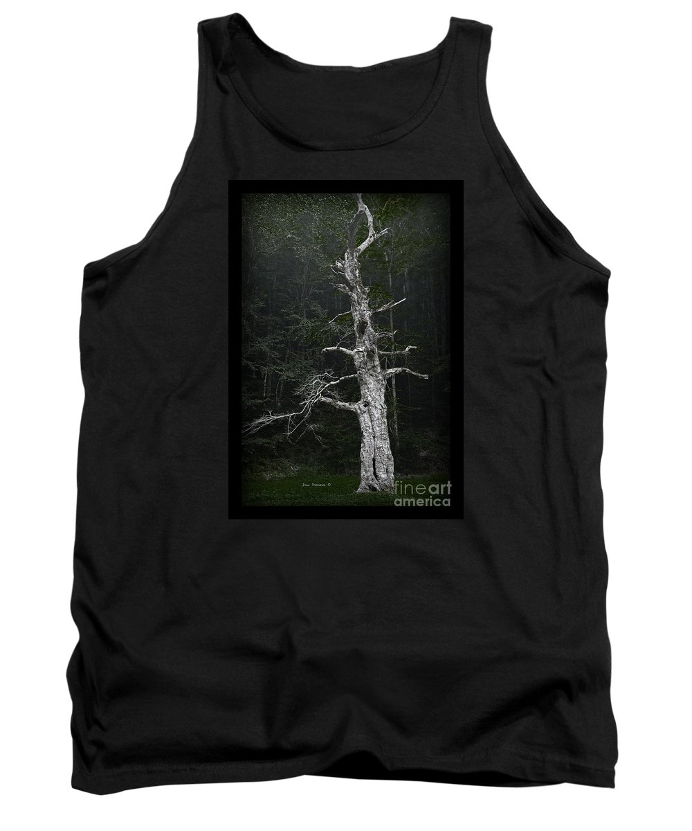 Ancient Tank Top featuring the photograph Anthropomorphic Tree by John Stephens