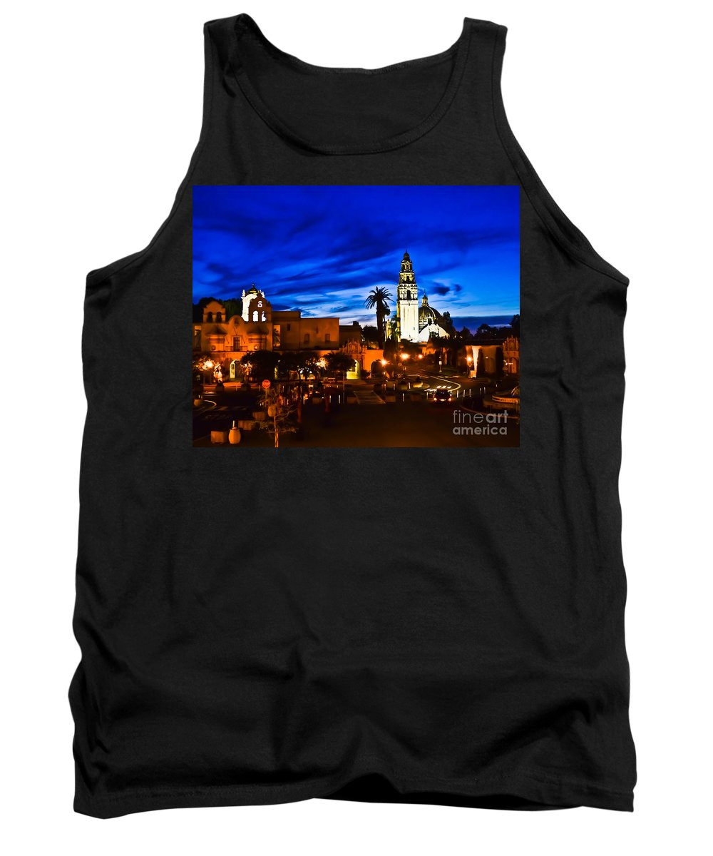 San Diego Tank Top featuring the photograph Balboa Night by Rebekah Wilson