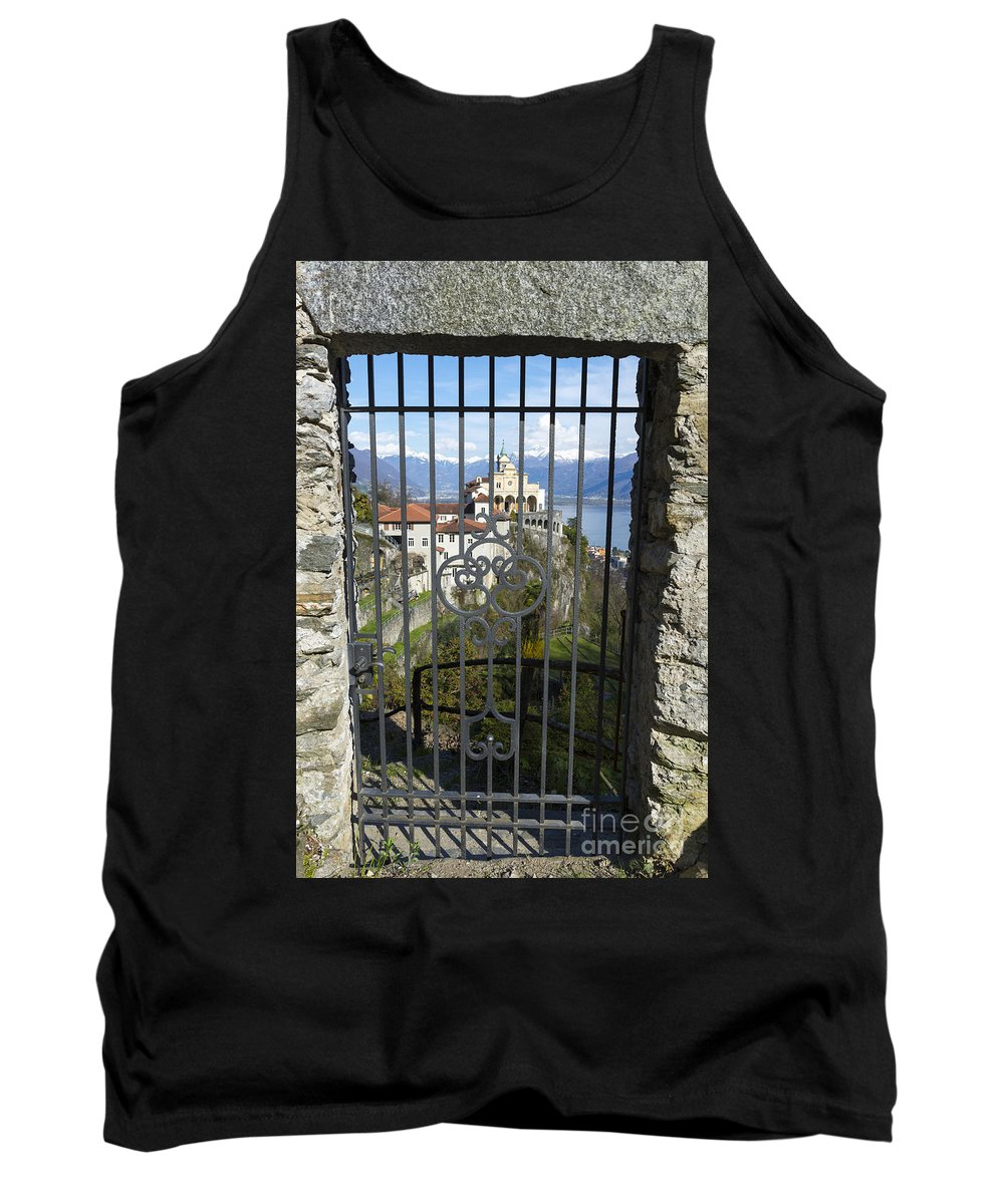 Church Tank Top featuring the photograph Church Madonna Del Sasso by Mats Silvan