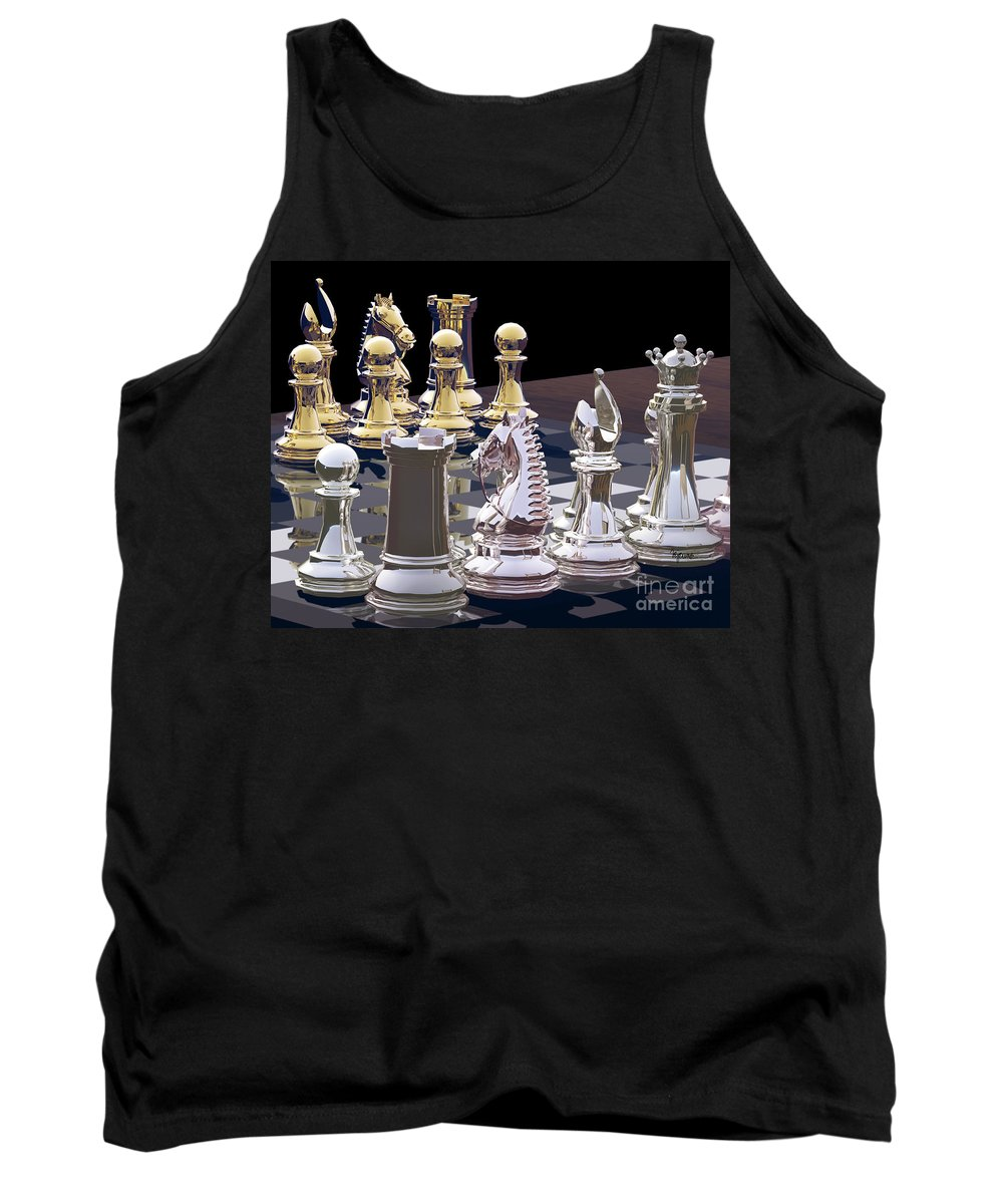 Chess Tank Top featuring the photograph Competition - Chess by Lori Lejeune