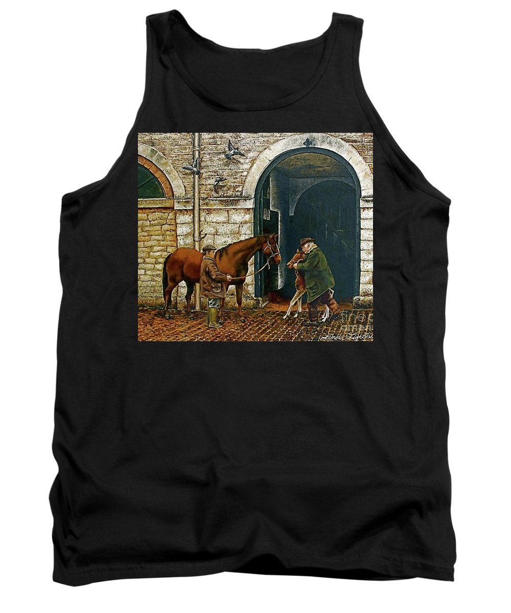 Barn Tank Top featuring the painting Divine Beginnings by Linda Simon
