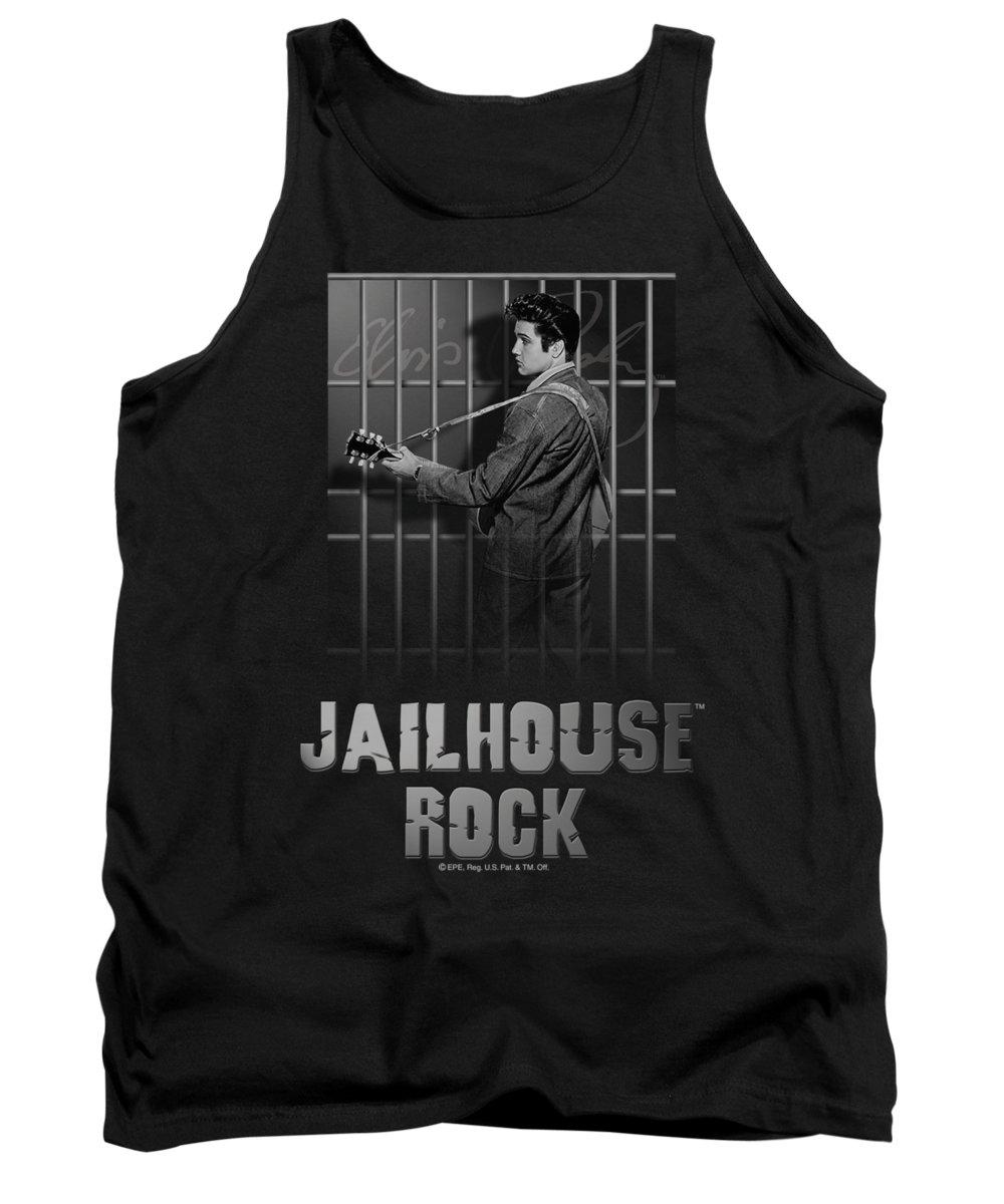 Elvis Tank Top featuring the digital art Elvis - Jailhouse Rock by Brand A