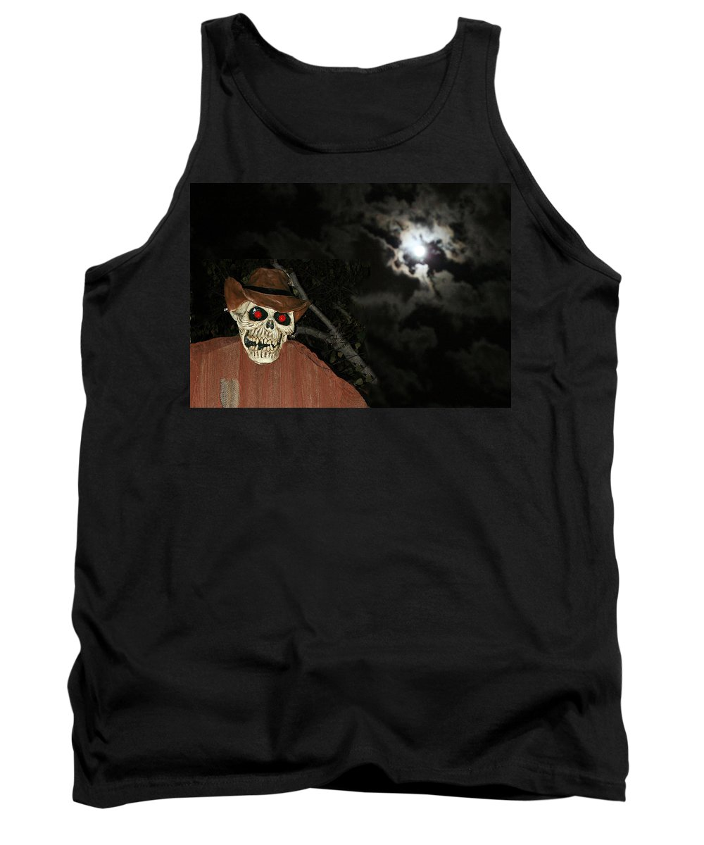 Fright Night Tank Top featuring the photograph Fright Night 1 by Ellen Henneke