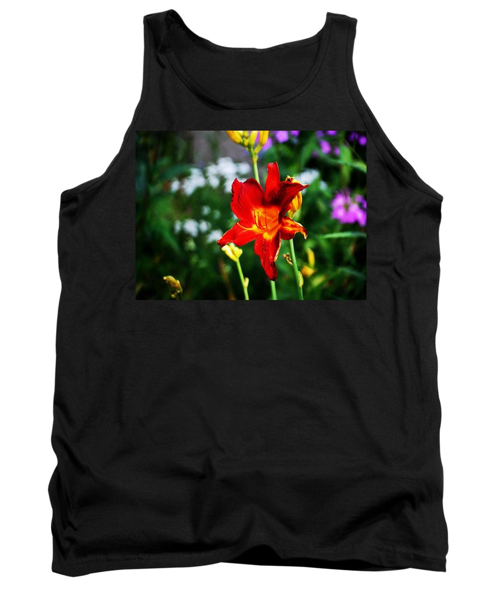 Red Tank Top featuring the photograph Garden Beauty by Gary Wonning