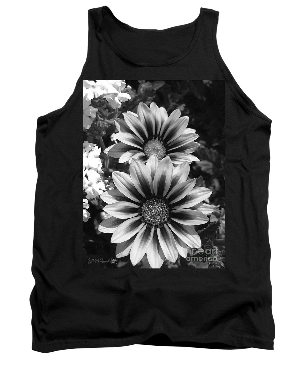 Mccombie Tank Top featuring the painting Gazania Named Kiss Yellow Flame by J McCombie